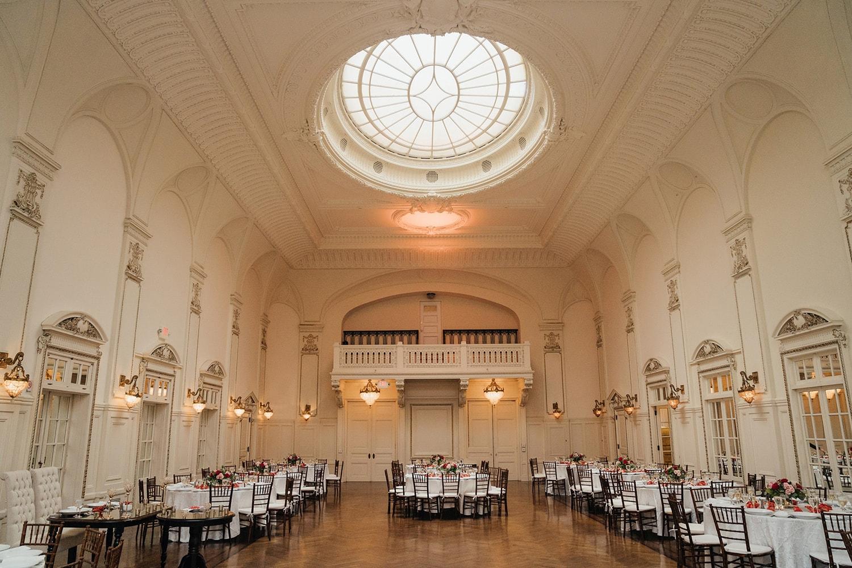 Bourne Mansion Grand Ballroom reception setting