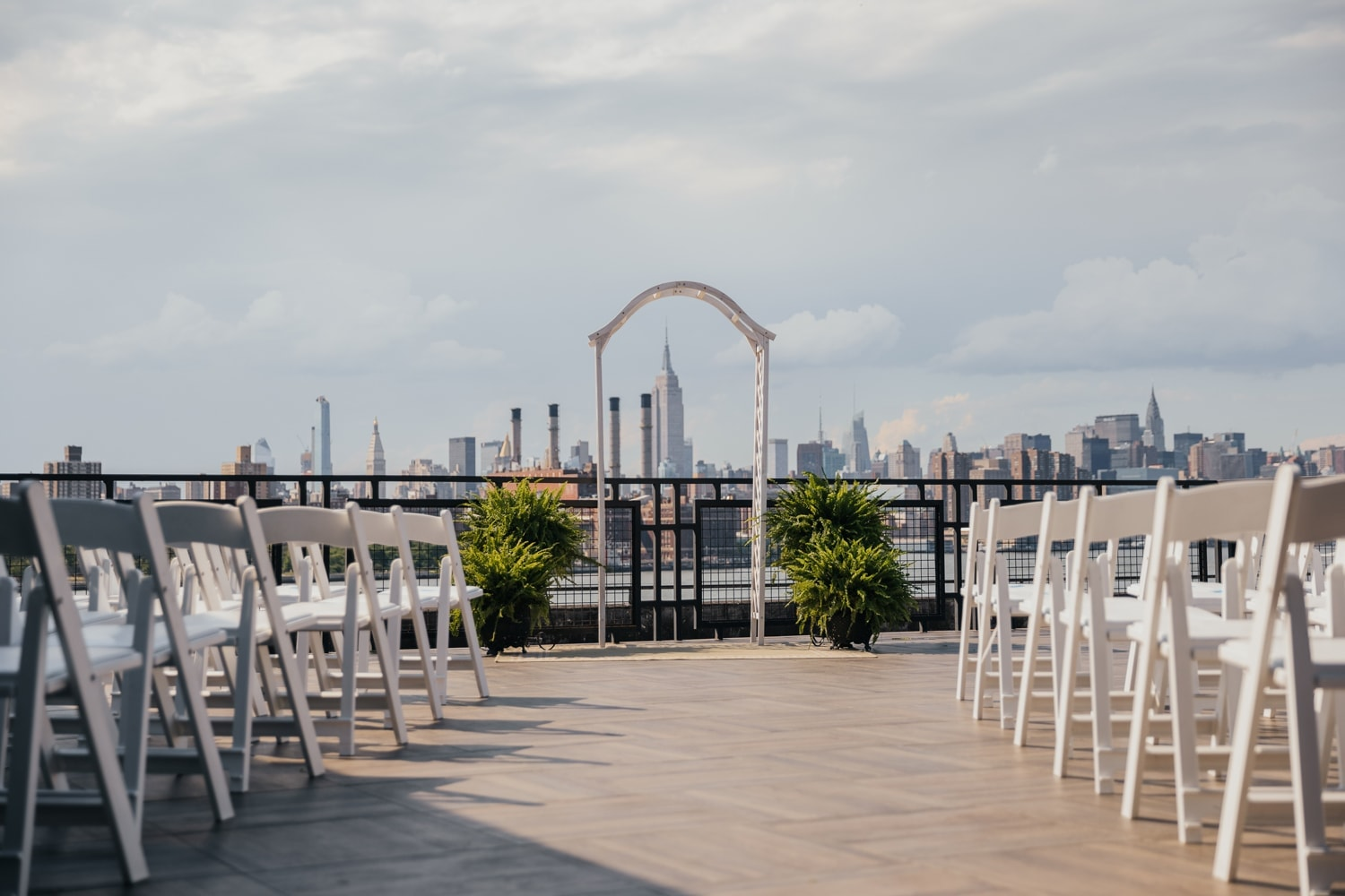 W Loft outdoor wedding ceremony setting