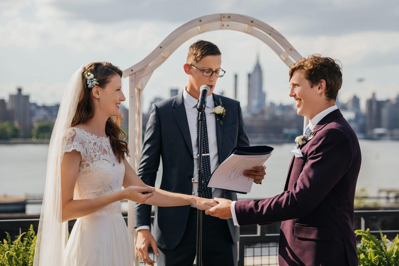 Wedding ceremony at the W Loft, Brooklyn