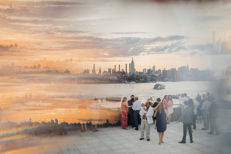 the W Loft, Brooklyn terrace with Manhattan view