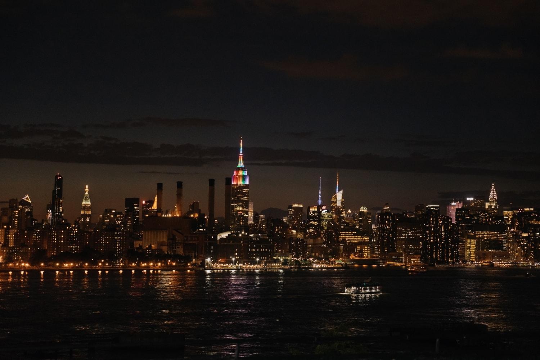 Manhattan view at night