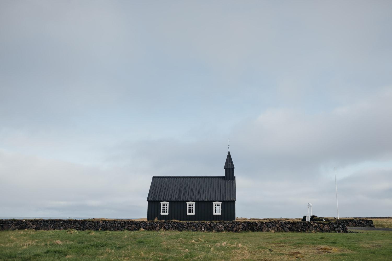 Budakirkja black church in Iceland