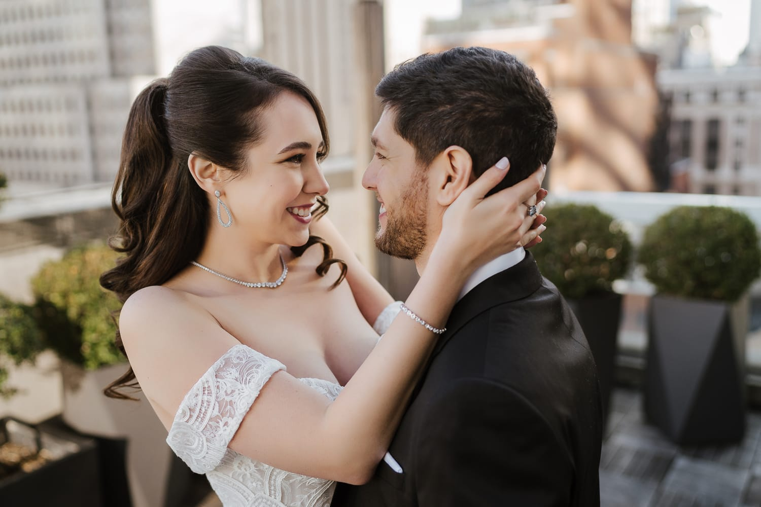 First look on the wedding day
