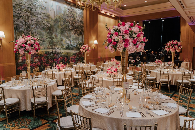 Reception setting at Sofitel New York