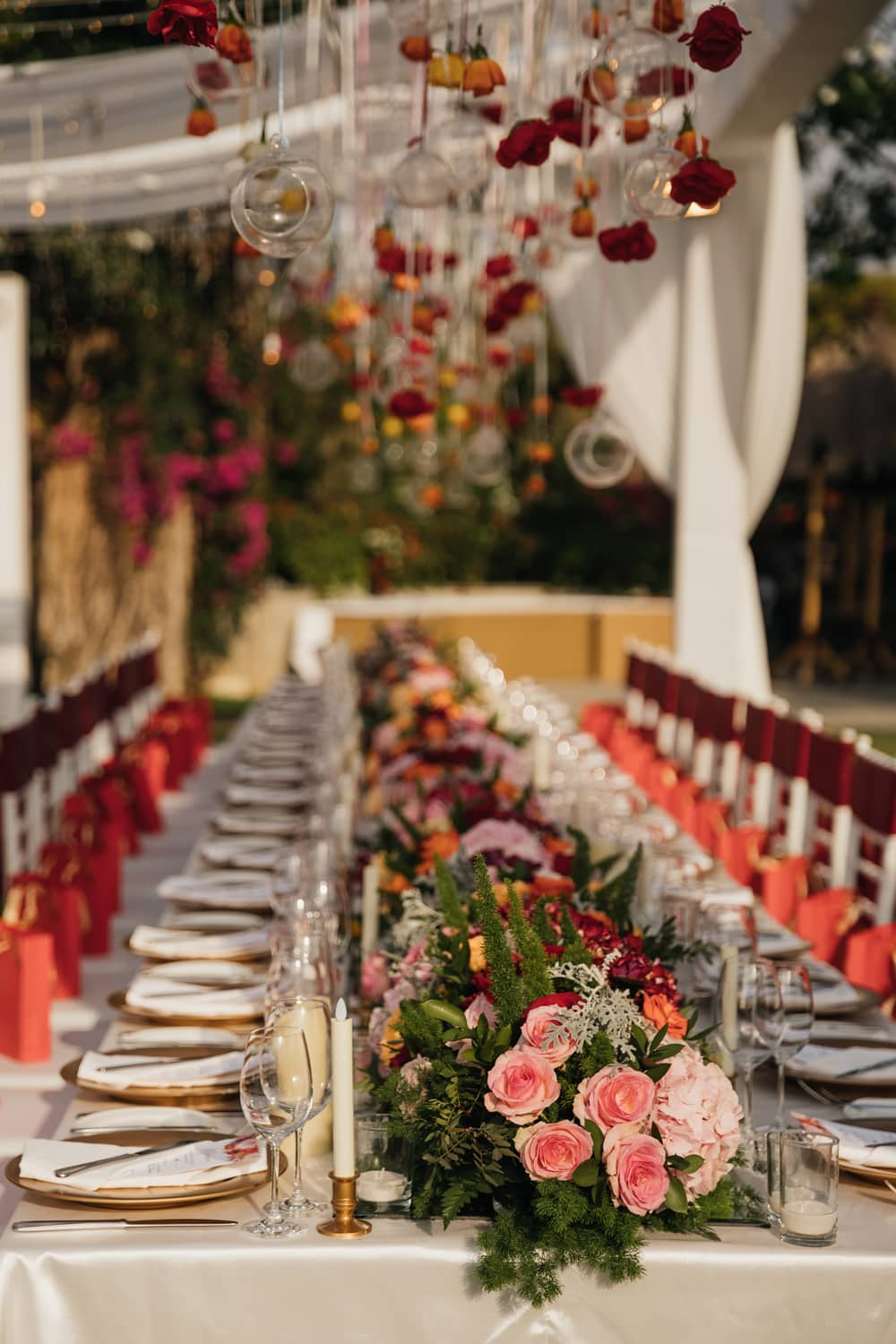 Tableware decorations for a reception at the Villa at Ayana Resort and Spa