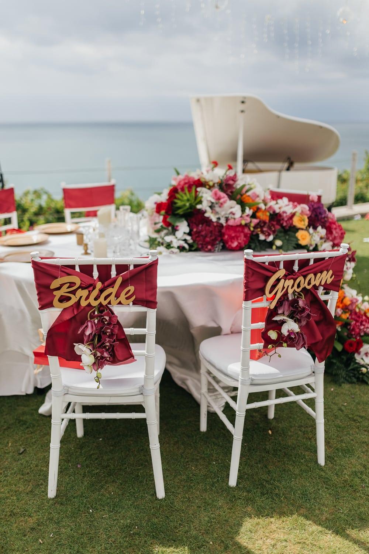 Tableware florals at Ayana Villa