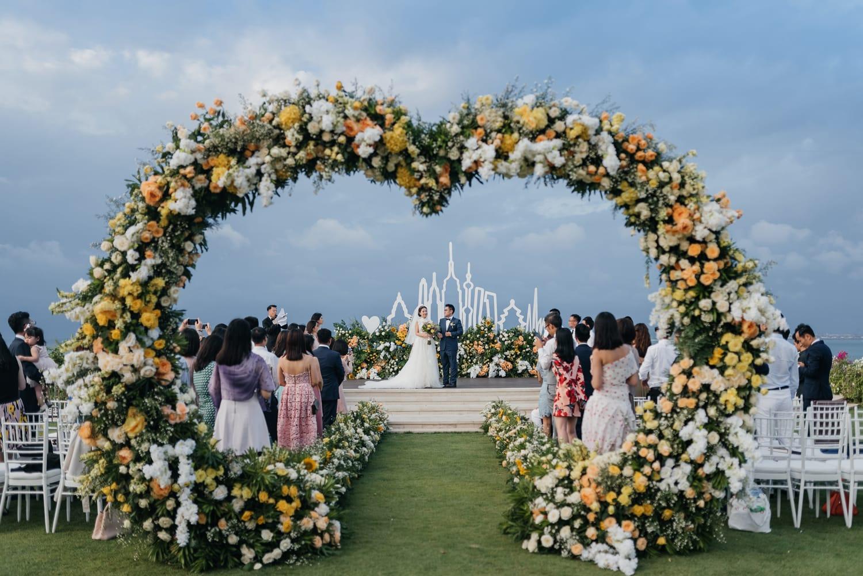 Wedding ceremony at Ayana Villa