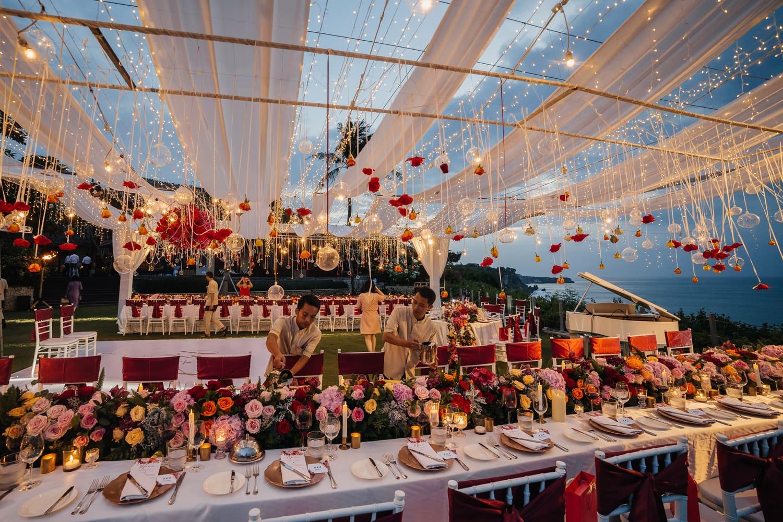 Tableware setting at the Villa at Ayana Resort and Spa