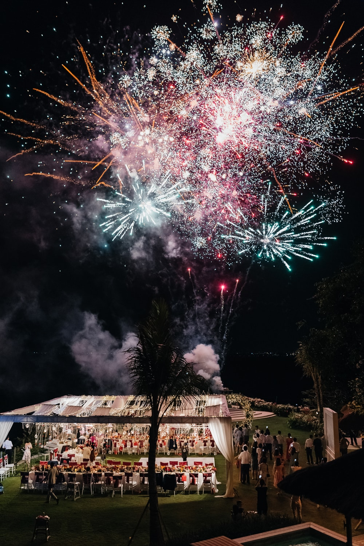 Ayana Villa wedding fireworks