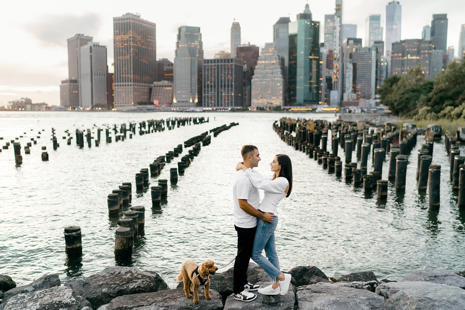 Couple session at Old Pier 1 in Brooklyn
